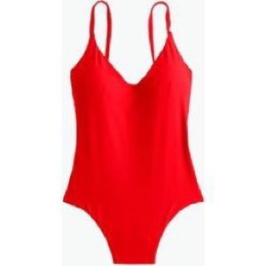 J. Crew Rounded V-neck one-piece swimsuit NWT 12